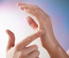 tapping on hand for EFT
